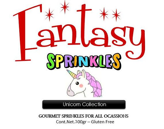 Sprinkles Jimmies Unicorn Collection (Pineapple - Blueberry Flavors) gluten  free 10 58 Oz